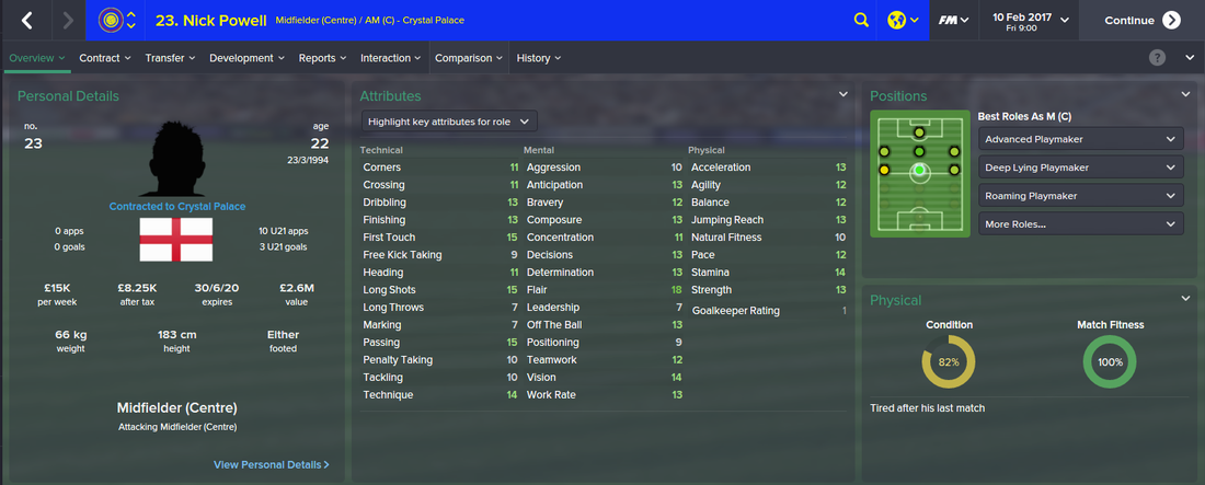 Nick Powell, Football Manager 2015, FM15, FM 2015, 3rd Season Screenshot