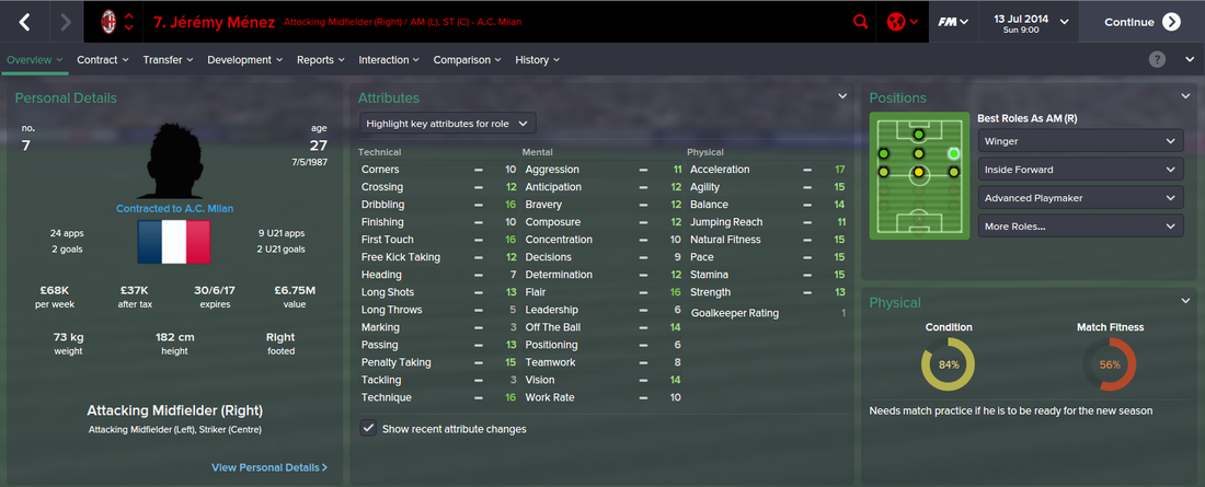 9cf7bcfe495 Jeremy Menez FM15 - FOOTBALL MANAGER 2015