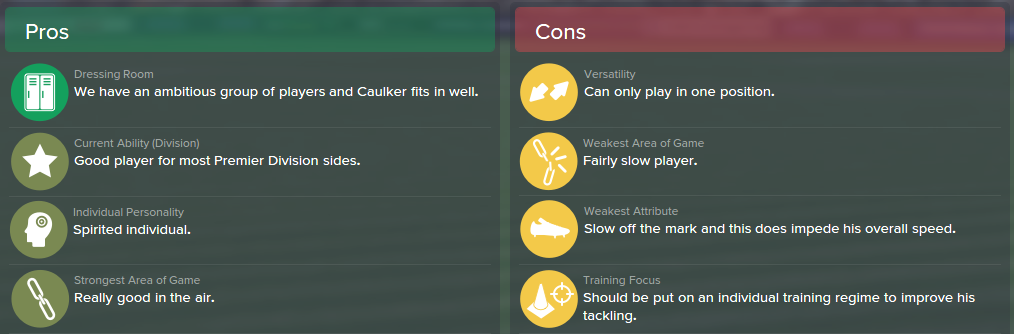 Steven Caulker, FM15, FM 2015, Football Manager 2015, Scout Report, Pros & Cons