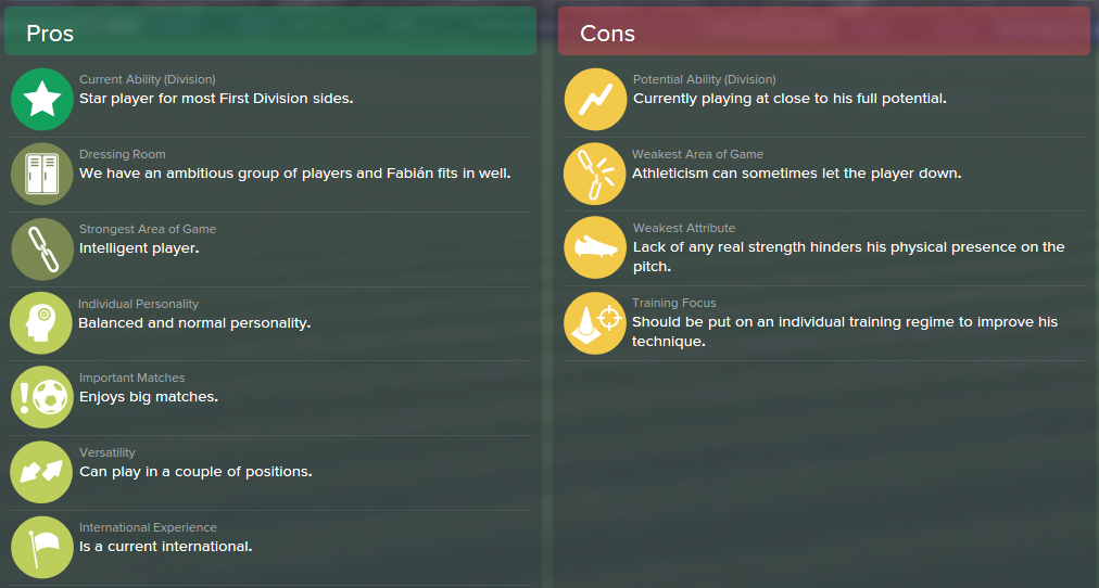 Marco Fabian, FM15, FM 2015, Football Manager 2015, Scout Report, Pros & Cons