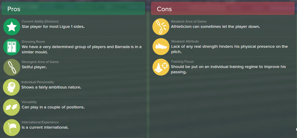 Abdel Barrada, FM15, FM 2015, Football Manager 2015, Scout Report, Pros & Cons