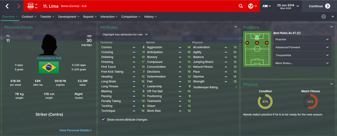 Lima, FM15, FM 2015, Football Manager 2015, 1st Season Screenshot