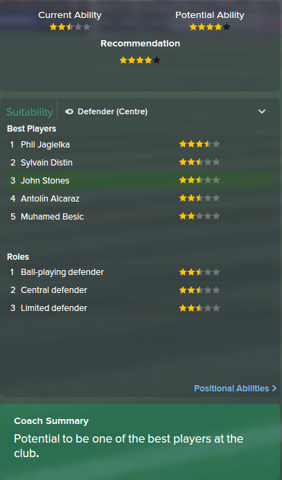 John Guidetti, FM15, FM 2015, Football Manager 2015, Scout Report, Current & Potential Ability