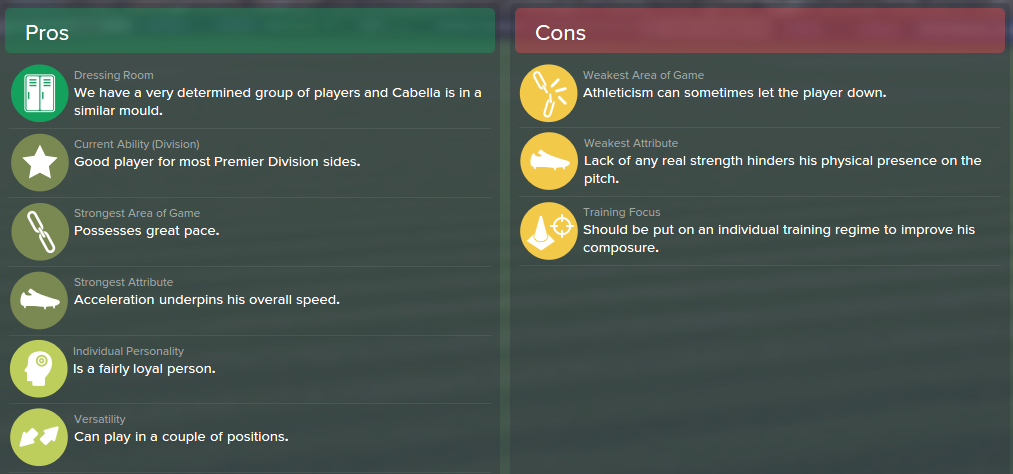 FM15, FM 2015, Football Manager 2015, Scout Report, Pros & Cons