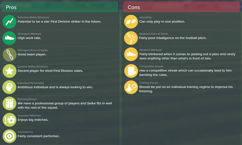 Davie Selke, FM15, FM 2015, Football Manager 2015, Scout Report, Pros & Cons