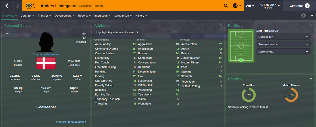 Anders Lindegaard, Football Manager 2015, FM15, FM 2015, 3rd Season Screenshot