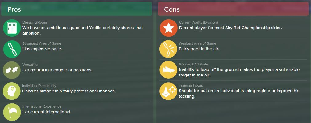 DeAndre Yedlin, FM15, FM 2015, Football Manager 2015, Scout Report, Pros & Cons