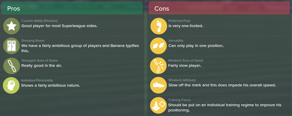 Yaya Banana, FM15, FM 2015, Football Manager 2015, Scout Report, Pros & Cons