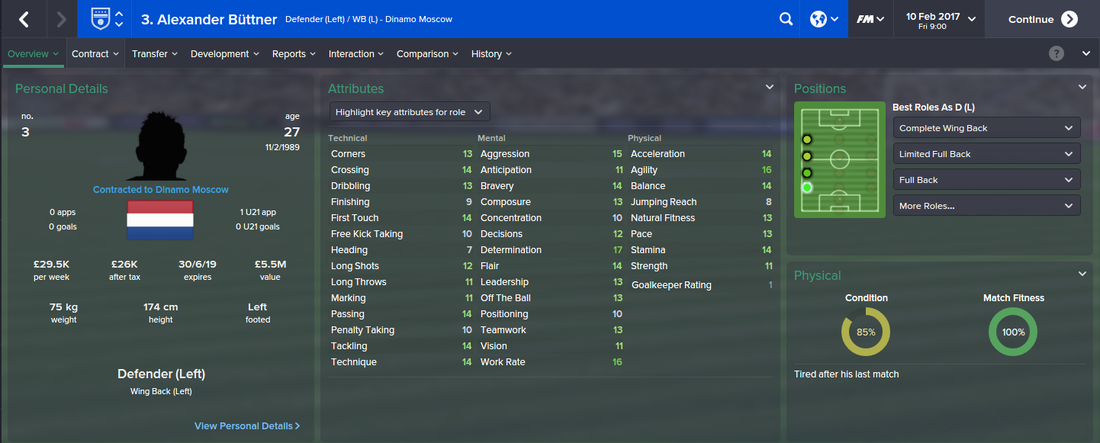 Alexander Buttner, Football Manager 2015, FM15, FM 2015, 3rd Season Screenshot
