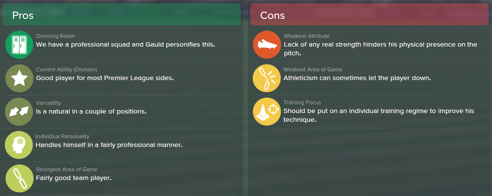 Ryan Gauld, FM15, FM 2015, Football Manager 2015, Scout Report, Pros & Cons