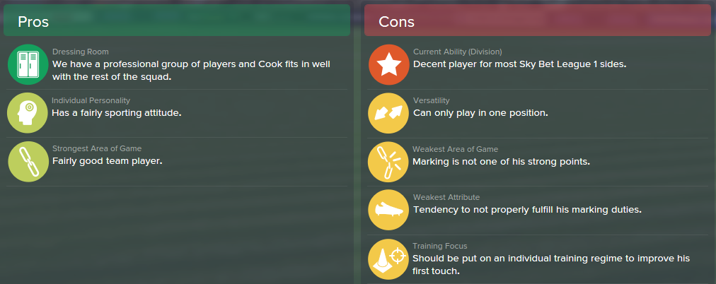 Lewis Cook, FM15, FM 2015, Football Manager 2015, Scout Report, Pros & Cons