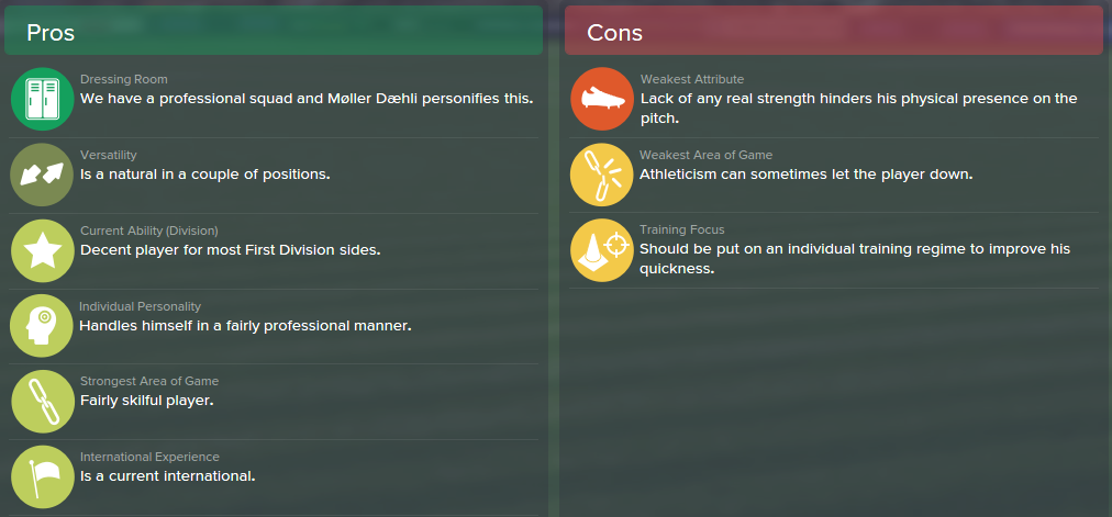 Mats Moller Daehli, FM15, FM 2015, Football Manager 2015, Scout Report, Pros & Cons