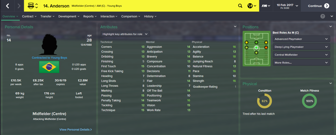 Anderson, Football Manager 2015, FM15, FM 2015, 3rd Season Screenshot